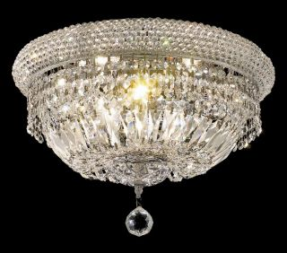 16 flush mount ceiling light crystal chandelier 03fc features chrome