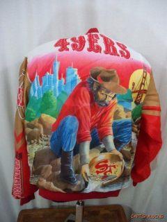 San Francisco 49ers Chalk Line Football Jacket Huge Graphic Mens L