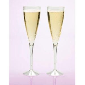 24 9 Champagne Flutes Glasses Plastic Party Supplies