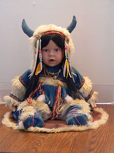 Cathay Collection Native American Type Porcelain Doll Numbered 14 5000