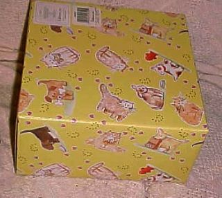 New w Gift Box Linda Grayson Pet Dog Cat Food Bowl L K