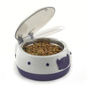 Ergo Automatic Auto Dog Cat Pet Feeder Bowl Lid Raises