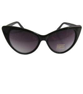 50s Sunglasses Black Marilyn Rockabilly Catseye Quality
