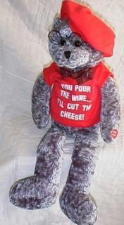 Chantilly Lane Animated Singing Old Man Bear Plush PBC