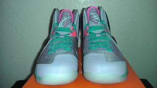 Nike Lebron 9 South Beach Size 6.5Y GS Miami Vice 100% Authentic FREE