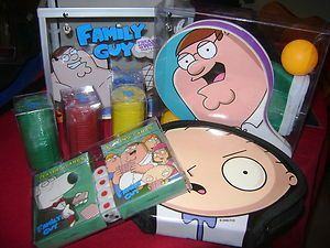 Used Family Guy Freakin Sweet Party Pack DVDs Cards Poker Chips Ping