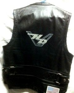 Harley Davidson Leather Vest Vintage Road King M, Matching Jacket