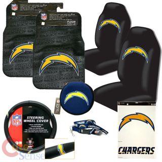 San Diego Char Car Seat Cover Auto Accessories Set 9pc