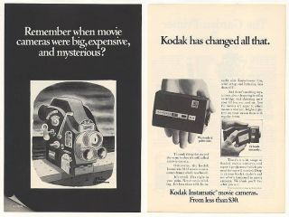 Instamatic Movie Camera Charles Addams Art 2 Page Print Ad