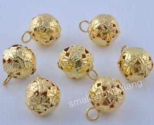 20 Gold Plated Jingle Bells Bracelets Charms Pendants