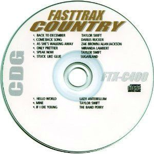 Karaoke 7 Disc CDG Set 77 Hot 2010 2011 Country Songs BONUS if bidding