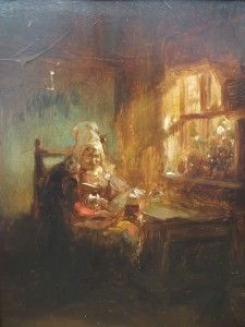 Delightful 19th Century Period French Impressionist Oil