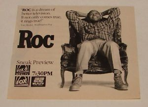 1991 FOX tv series preview ad ~ ROC ~ Charles S Dutton