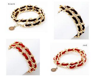 Studio Apartment Design Fashion Jewelry Suede String Chain Bracelet
