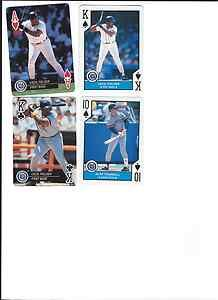 Cecil Fielder Alan Trammell 4 card playing card lot 1990 1992 Detroit