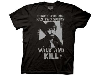 New Black Chuck Norris T Shirt All Sizes Two Speeds Mens Funny Facts