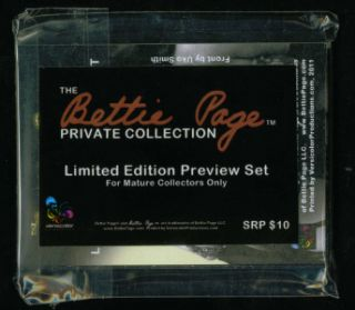 Bettie Page Private Collection Preview Card Set Limited Edition Promo