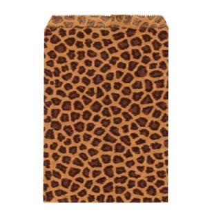 Paper Favor Treat Bags 4 x 6 Leopard Print 100 Bags