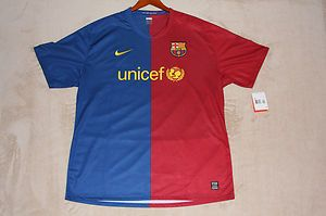 FC Barcelona Player Match Issued un worn Shirt Champions League Jersey