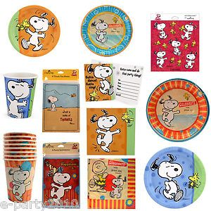 Peanuts Charlie Brown Snoopy Party Supplies Religous Birthday BX
