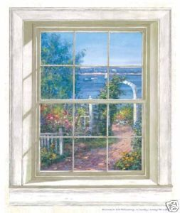 Ocean HARBOR VIEW WINDOW 3 5 x 3 ft Wallpaper Wall Decor Mural