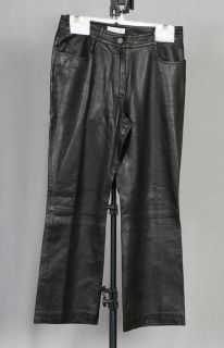 Celine Black Lambskin Leather Pants Jeans Sz 36 $1900