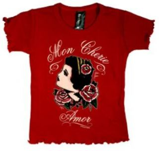 Baby Girls T Shirt Mon Cherie Amor Rockabilly 12M 1