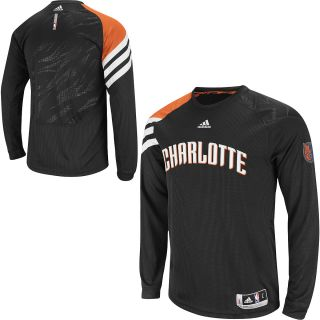 Adidas Charlotte Bobcats on Court Long Sleeve Shooting Shirt