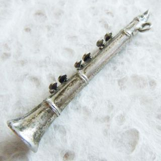 Clarinet Music Musical Instrument Sterling Silver Charm Moves