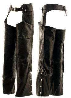 Hawg Hides Leather Motorcycle Chaps Small s for Xmas
