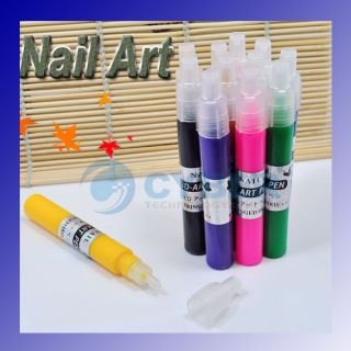 Charming 3D 12 Colo Painting Pen UV Gel Acrylic Design Nail Art Polish