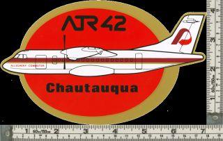 Chautauqua USA ATR 42 Large Airline Sticker V RARE