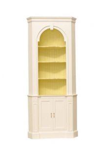 Coastal Cottage Shellback Corner Cupboard Solid Wood 40 Colors Fine