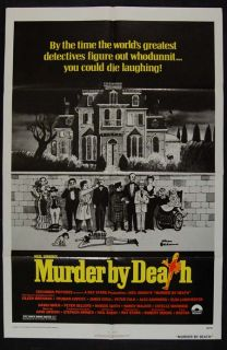MURDER BY DEATH 76 CHARLES ADDAMS ART   ORIGINAL MOVIE POSTER