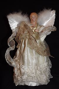 Kurt Adler 12 Fiber Optic Light Up Angel Christmas Tree Topper