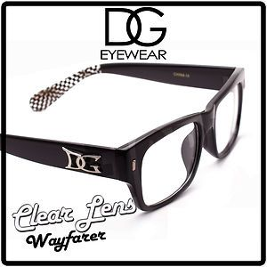 Checker DG Wayfarer Clear Lens Glasses Men Women Sunglasses Unisex