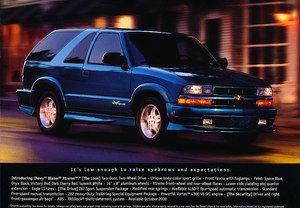 2001 Chevrolet Chevy s 10 Blazer Xtreme Sales Brochure Fact Sheet