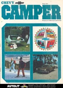 1973 Chevrolet motorhome RV Travel Trailer Brochure