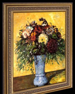 Cezanne Bouquet of Flowers Framed Canvas Giclee Repro