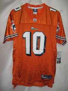 Miami Dolphins Chad Pennington Orange EQP NFL Youth Jersey x Large