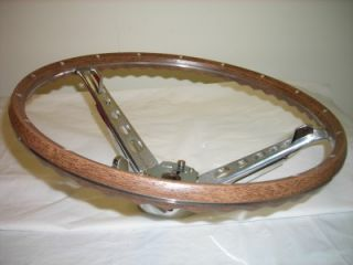 1965 1966 Mustang Wood Grain Steering Wheel Assembly