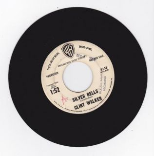 Hear Christmas 45 Clint Walker Silver Bells Cheyenne Brodie Rel WB