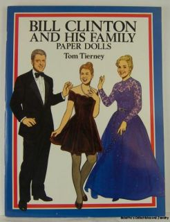 TOM TIERNEY PAPER DOLL PRESIDENT BILL CLINTON HILLARY CHELSEA 94