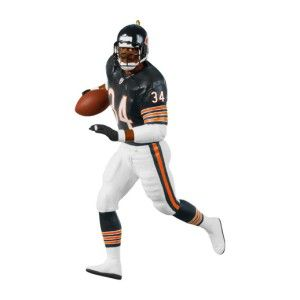 Walter Payton Football Chicago Bears NFL Christmas Ornament