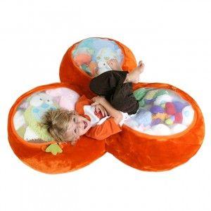 Bag Trio Trio Toy Chest Plush Storage Orange Bag Chair Soft Bag