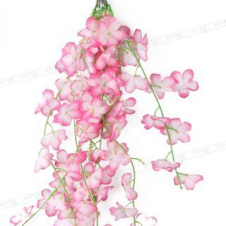 Artificial Pink Cherry Flowers Blossom Wedding Spray Branch Decor