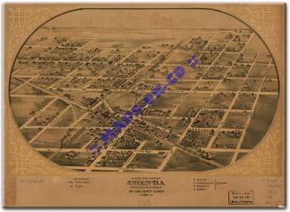 chenoa illinois panoramic map on cd rom