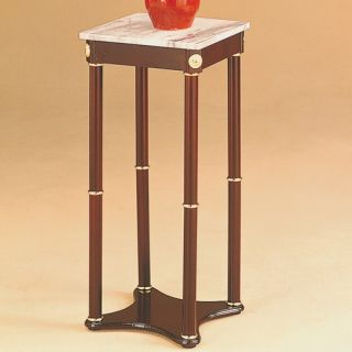 World Imports Furnishings Square Plant Stand in Cherry 1604