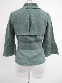You are bidding on a CHARLIE & ROBIN Green Wool Knit 3/4 Sleeve