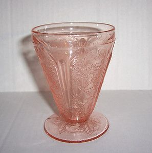 Pink Cherry Blossom All Over Pattern Footed Juice Glass 6
